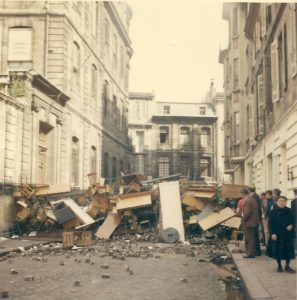 Barricades in Bordeaux in May 1968.