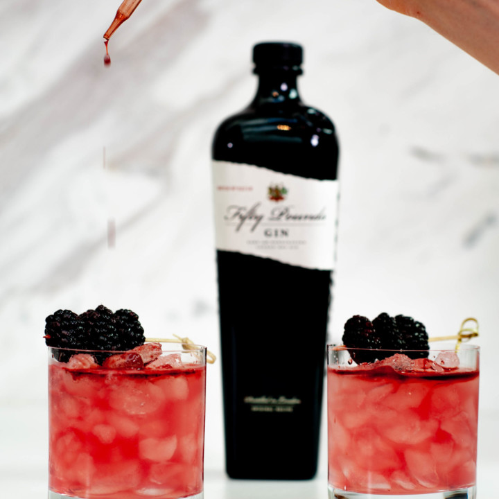 Fifty Pounds Gin Cocktail Bramble