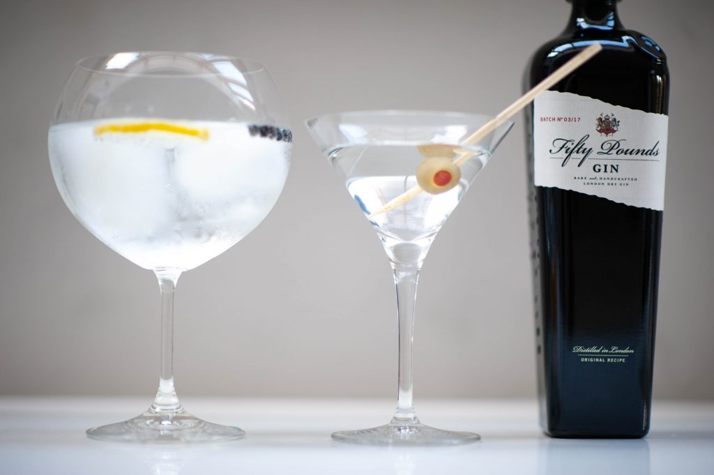 Low Calorie drinks: gin & tonic