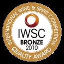 Bronze Medal - International Wine & Spirit Competition 2010