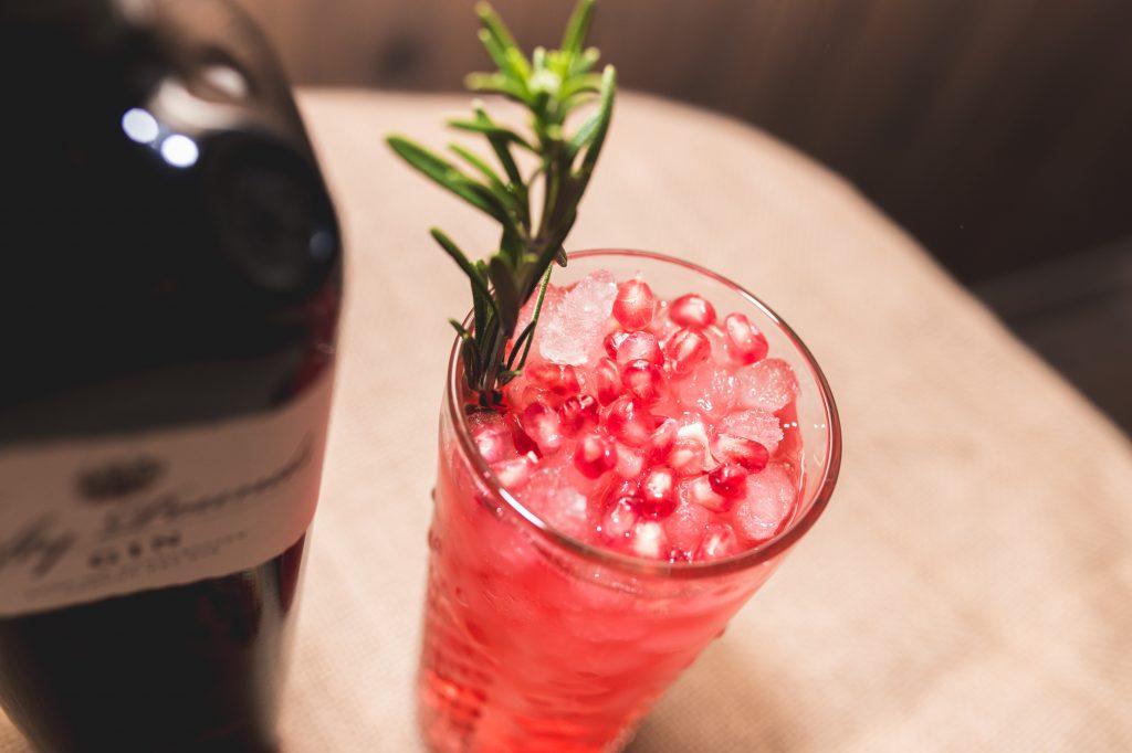 Pomegranate Gin Fizz Fifty Pounds Gin