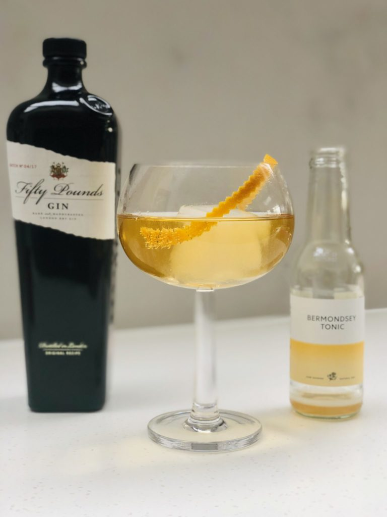 Bermondsey_tonic_water_natural_cinchona_bark_Fifty_Pounds_Gin