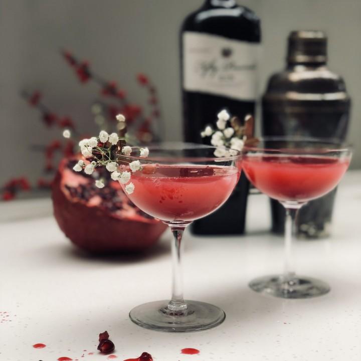 Fifty Pounds Gin Pomegranate Martini